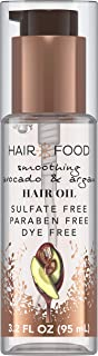Sulfate Free Hair Oil, Dye Free Smoothing Treatment, Argan Oil and Avocado, Hair Food, 95ml