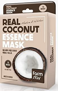 [Farmstay] Real Essence Mask(10 Sheets) - COCONUT | Korean Skin Care Mask Sheet