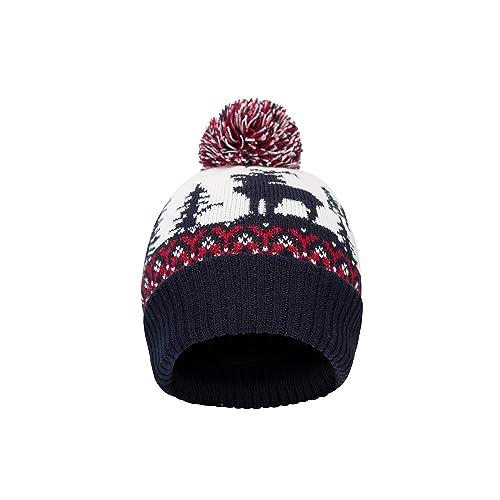 Mountain Warehouse Xmas Fairisle Mens Winter Beanie - Comfortable Cap fe47075e4b06
