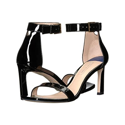Stuart Weitzman 75 Square Nudist (Black Crystal) Women
