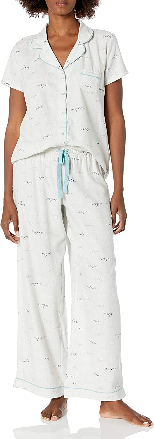 Be super welcome Omaha Mall Splendid Women's Notch Color Short Set Pant Sleeve Pajama Top