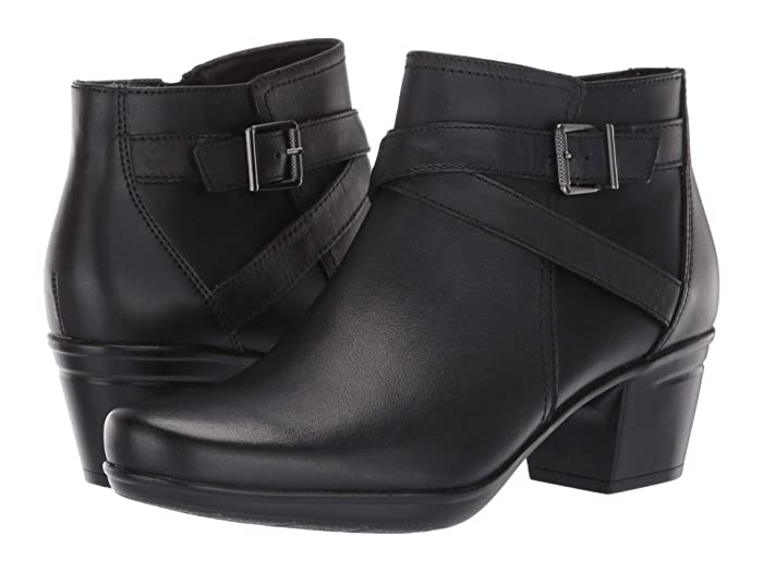 Clarks  Emslie Cyndi (Black Leather) Womens  Boots