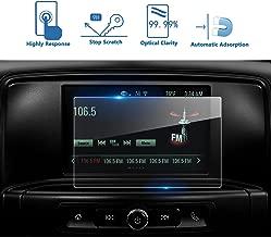 LFOTPP 2016-2017 GMC Sierra 1500 2500HD 3500HD 7 Inch IntelliLink Car Navigation Screen Protector, [9H] Tempered Glass Center Touch Screen Protector Anti Scratch High Clarity (7-Inch)