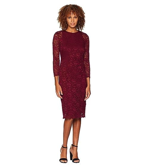 c95f19ad0006c LAUREN Ralph Lauren Floral Stretch Lace Dexter 3/4 Sleeve Day Dress ...