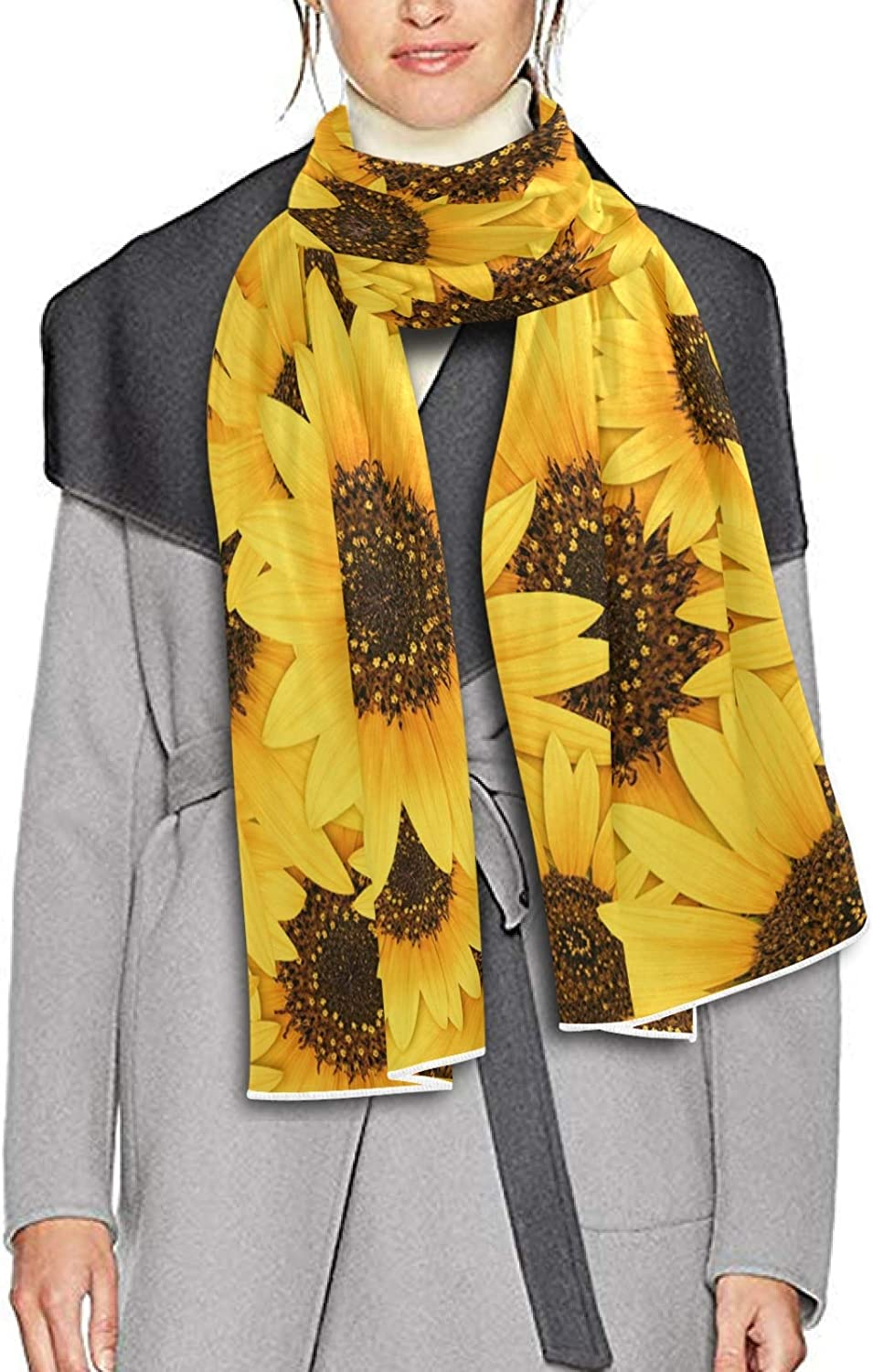 Scarf for Women and Men Wild Sunflower Blossom Blanket Shawl Scarves Wraps Soft thick Winter Oversized Scarves Lightweight