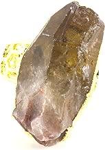 Magic Metal Large Gray Quartz Crystal Ring Cocktail Statement RK34 Fashion Jewelry