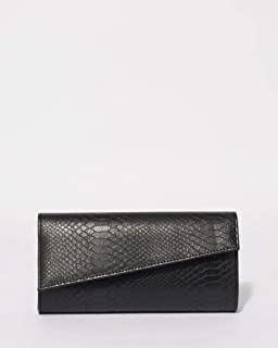 Black Ruby Angled Clutch Bag