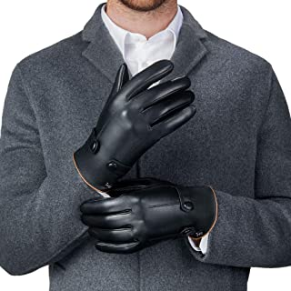 Best black leather mens driving gloves Reviews