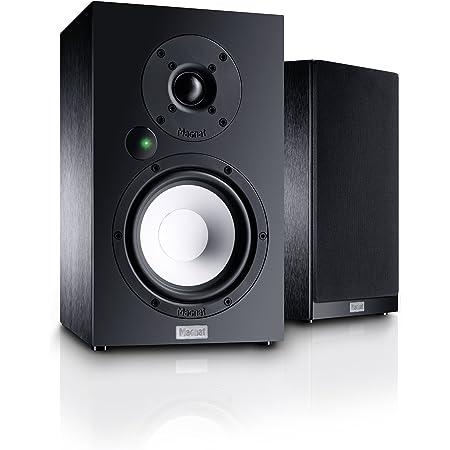 Magnat Multi Monitor 220 Aktives Lautsprecherset Mit Aptx Bluetooth Phono Eingang Und Fernbedienung Komplettsystem Für Vinyl Und Streaming Nutzer Schwarz Audio Hifi