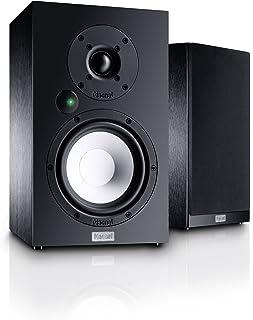 Magnat Multi Monitor 220 - Juego de Altavoces Activos con aptX Bluetooth, Entrada de Audio y Mando a Distancia, Sistema Completo para usuarios de Vinilo y Streaming, Color Negro Sencillo Negro