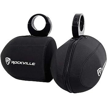 "Pair Rockville RWBC Neoprene Covers for 6.5"""" Marine Wakeboard Tower Speakers, Black"
