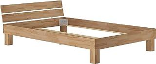 Erst-Holz Structure de lit Adulte Moderne en hêtre Massif Naturel 140x200 sans sommier ni Matelas 60.86-14oR