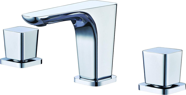ALFI brand AB1782-PC Widespread Modern Bathroom Faucet, Polished Chrome