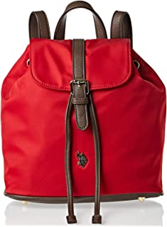 U.S. Polo Assn. Backpack For Women - Leather, Red (BIUPT0312WVP502)