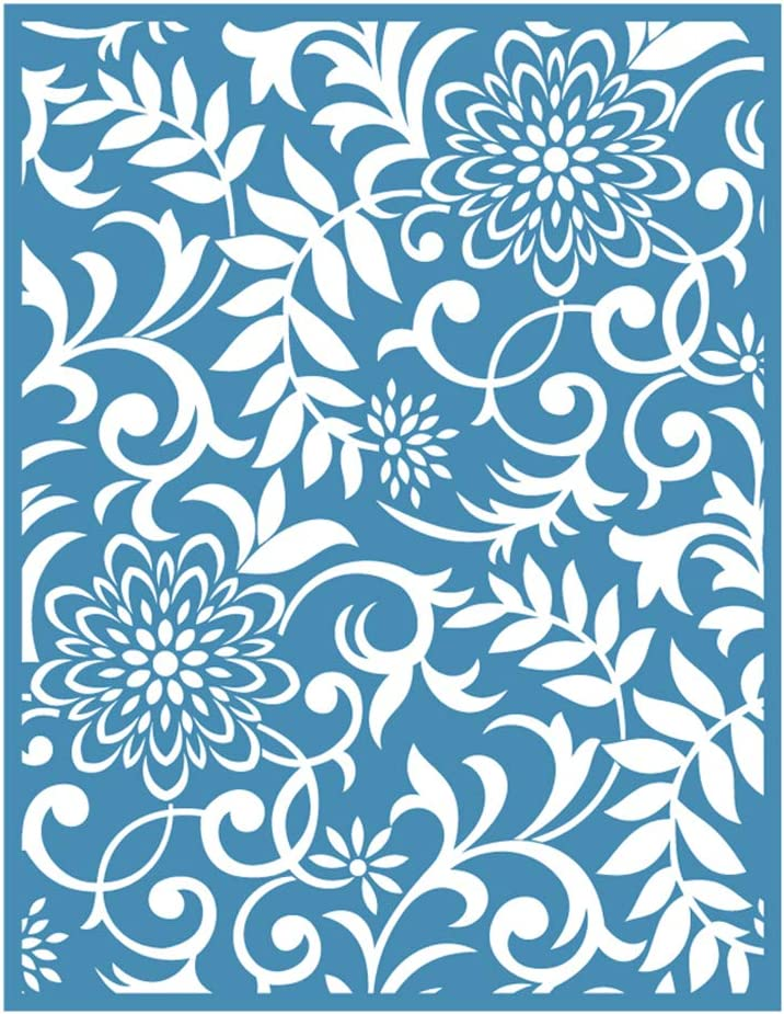 HUGUWEDING 1 Pcs Screen Stencil Spring Limited Special Price Sale Adhesive Flowers Self Sil
