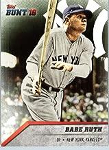 2016 Topps Bunt #26 Babe Ruth New York Yankees Baseball Card