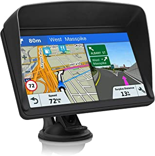 GPS Navigation for Car, Lifetime Maps Update Car Navigator, GPS Navigation System Voice Broadcast Navigation, Free North America Map Updata Contains USA, Canada, Mexico map