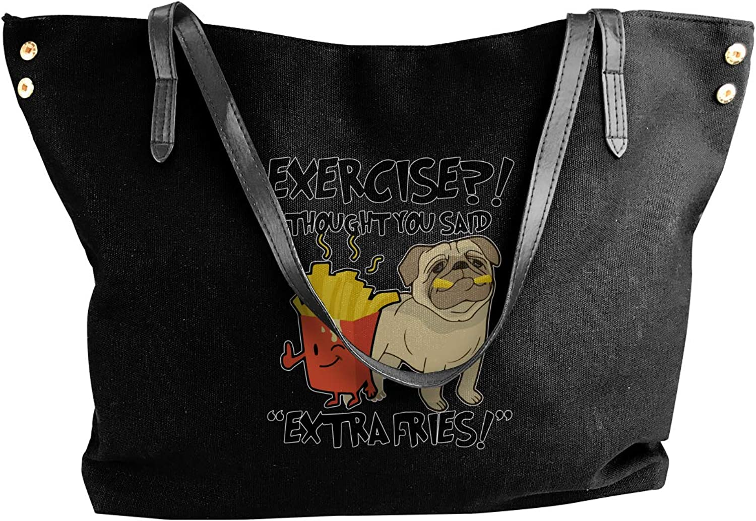 Exercise I Thought You Said Extra Fries Women'S Recreation Canvas Sling Bag For Work Work Bag