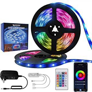 Led Strip Lights 50ft/15M, WEILY WiFi Control RGB Smart Led Light Strip Work with Alexa