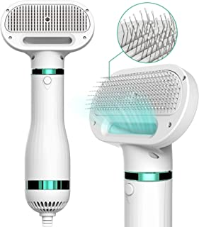 iPettie Upgraded Pet Hair Dryer with Slicker Brush, 3 Heat Settings, One-Button Hair Removal, Portable Dog Blower, Profess...