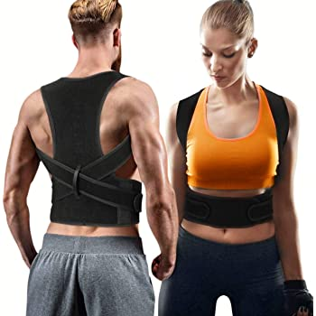 Back Brace Posture Corrector for Women Men - Back Lumbar Adjustable Support Shoulder Posture Support for Improve Posture Provide and Back Pain Relief - for Lower and Upper Back Pain