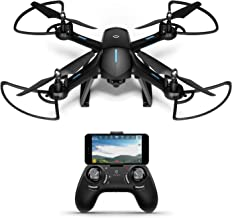 $99 » Amcrest A6-B Skyview Pro WiFi Drone with Camera HD 1.3MP FPV Quadcopter, Drone with Camera for Adults, RC + 2.4ghz WiFi Helicopter w/Remote Control, Headless Mode, Smartphone (Black)