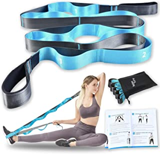 Relax Tony Stretching Strap with Loops for Yoga, Physical Therapy & Flexibility Exercises | Non-Elastic 12 Loops Stretch B...