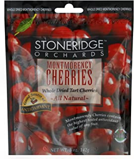 Stoneridge Orchards All Natural Whole Dried Montmorency Cherries, 5 Ounce -- 6 per case.