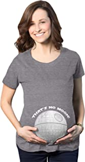 Maternity Thats No Moon Cute T Shirt Funny Pregnancy Announcement Baby Bump Tee