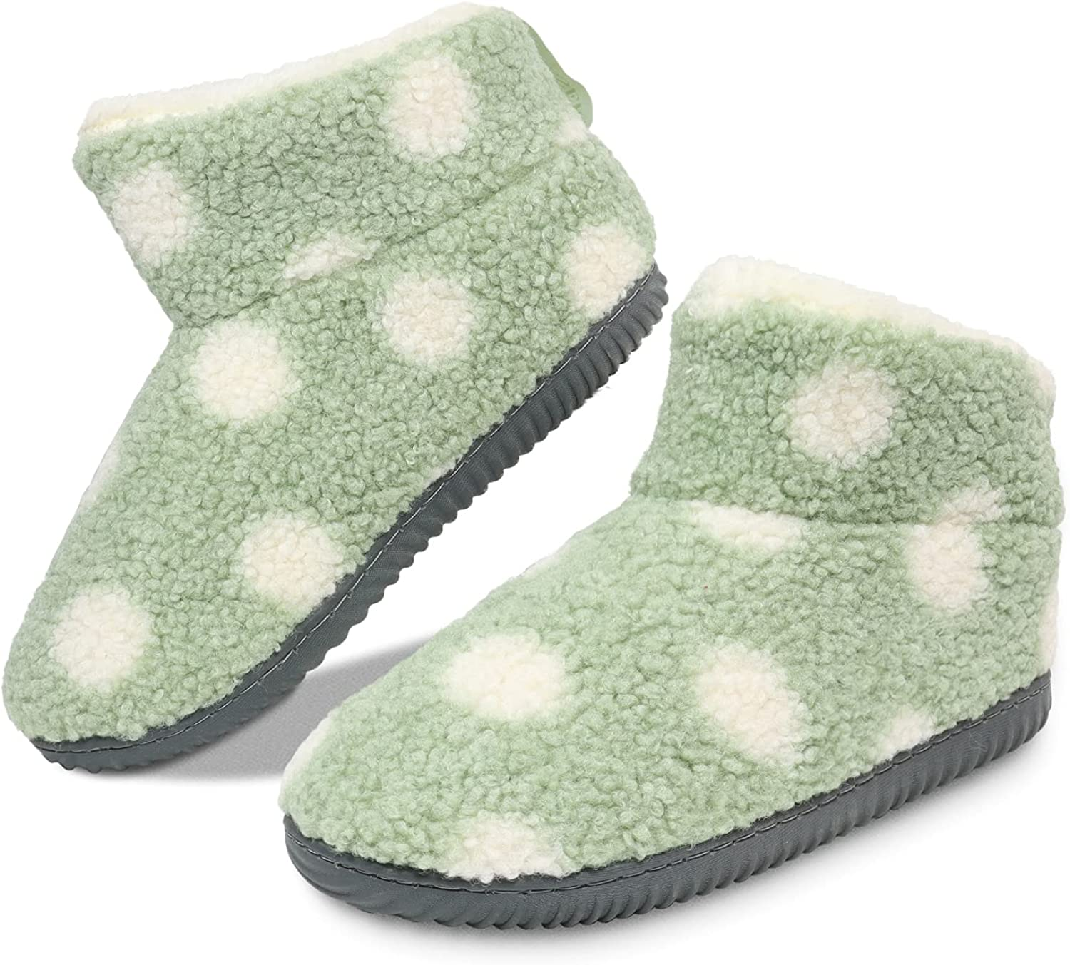 GUMUSSERVI Bootie Slippers for Women with 4-Layer Memory Foam,Boot Slippers Women Indoor,Winter Slippers Boots for Women,Fuzzy Vamp Plush Lining,Closed Back Ladies House Shoes Indoor Outdoor