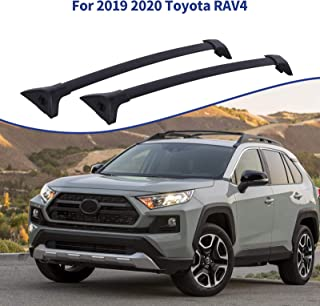 Sponsored Ad - Ai CAR FUN Roof Rack Cross Bars Compatible for Toyota RAV4 2019 2020, Aluminum Cargo Carrier Rooftop Luggag...