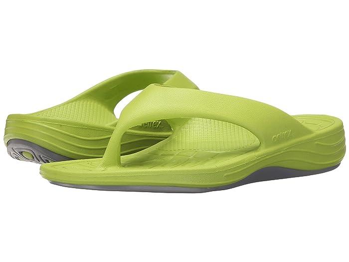 Aetrex  Lynco Flip (Lime) Womens Sandals