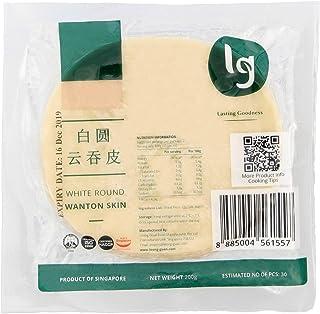 LG Foods White Round Wanton Skin - Chilled, 200 g