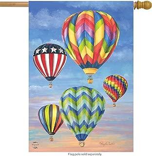 Briarwood Lane Hot Air Balloons Summer House Flag 28