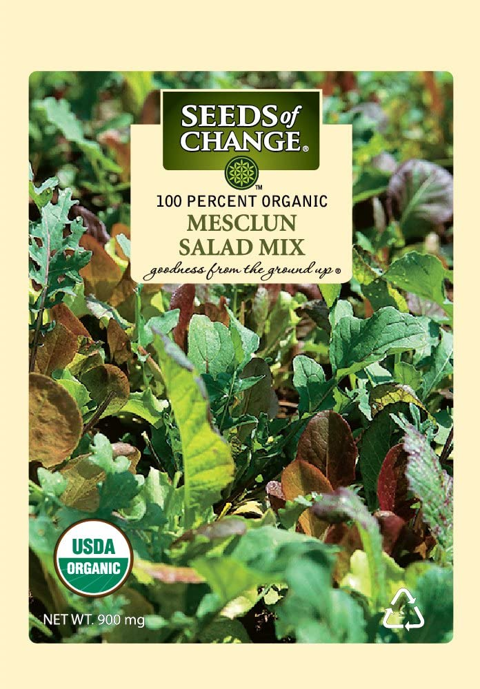 Seeds of Change 1901 Mesclun Mix Lettuce, Green