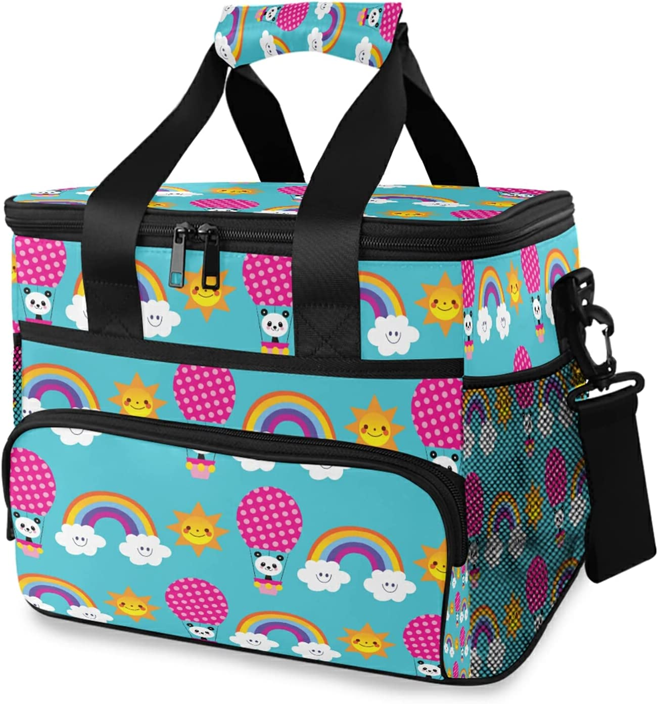xigua Rainbows Clouds Sky Kids Cooler Shoulder Max 57% OFF Bag Save money with Strap In