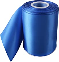 LaRibbons Double Face Satin Ribbon Roll, 4 inch Wide, Royal Blue, 25 Yards