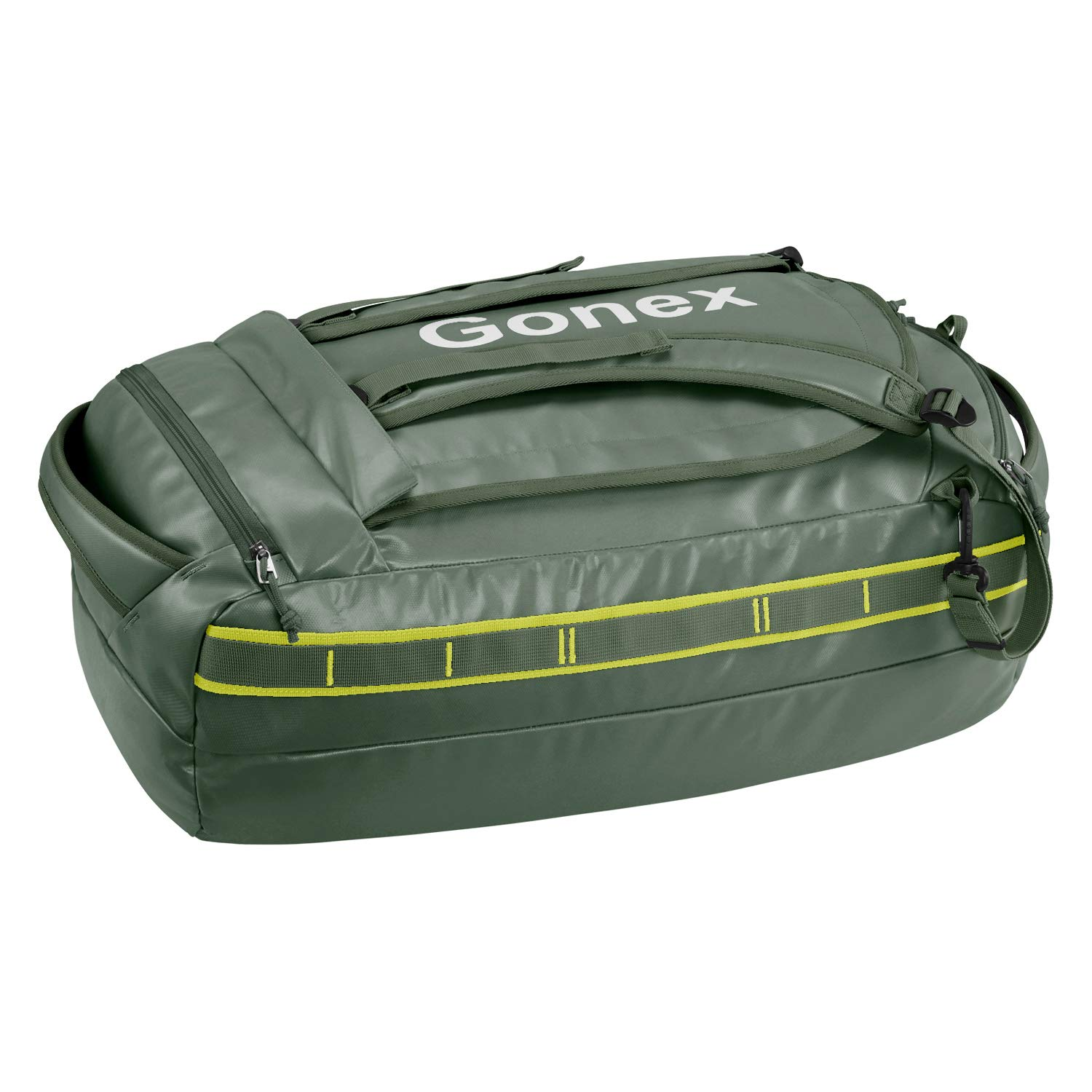 Gonex Foldable Duffle Bag Heavy Duty Duffel with Backpack Straps Water Repellent Load Hauler for Hiking Camping Travelling Cycling for Men Women 40L 60L 80L