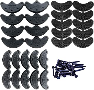 Heel Plates 14 Pairs Rubber Shoes Heel taps Tips Repair Pad Replacement with Nails Small, Medium,Large Size (Black)