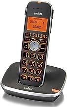 Switel SWIDC5001VITABK T/él/éphone sans fil DECT avec Base//Combin/é grosse touche Noir