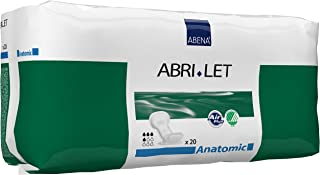 Abena Abri-Let Fluff Incontinence Pads Without barrier anatomic, 20Count