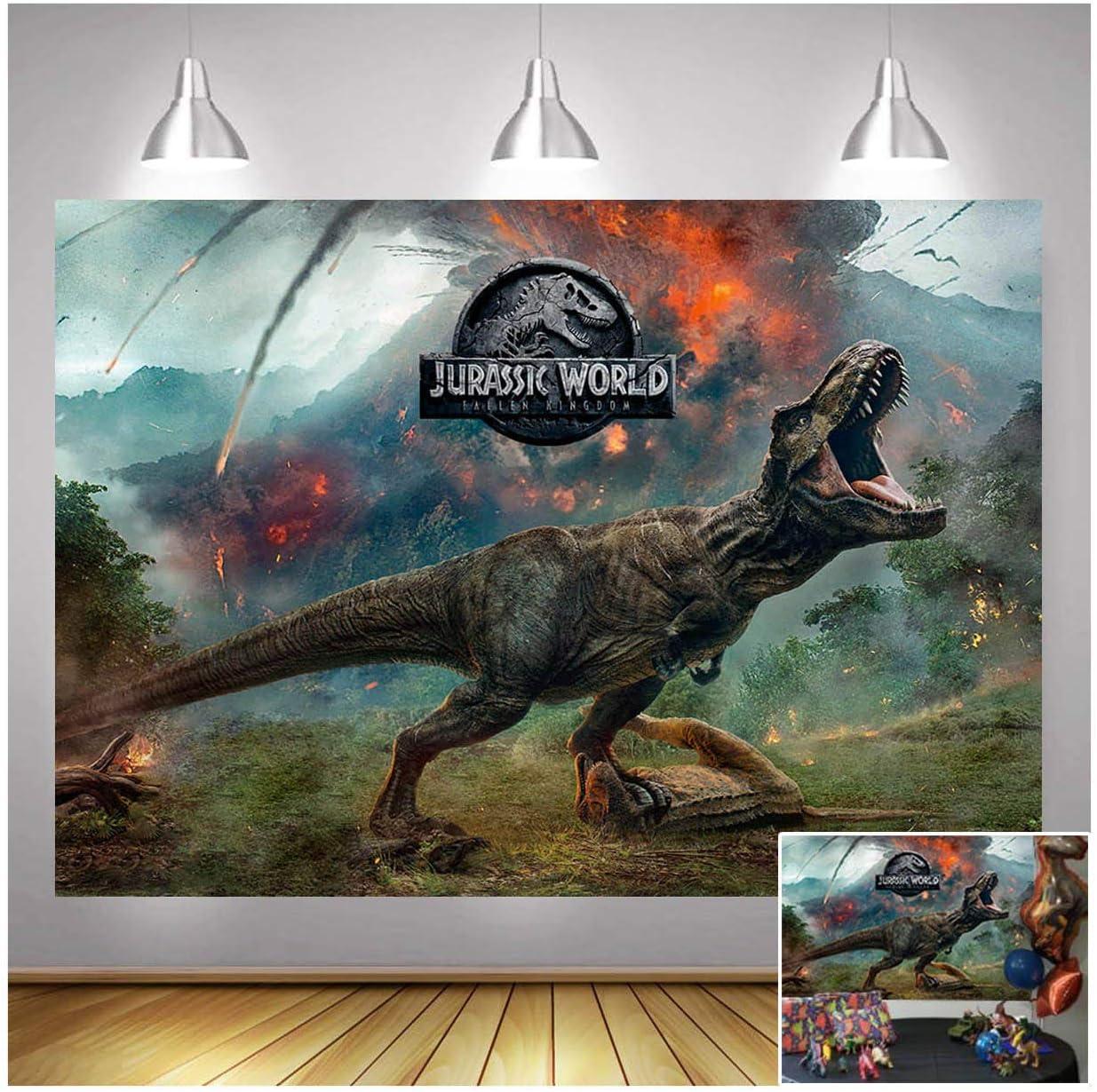 Jurassic World Photography Backdrops 7X5ft Vinyl Dinosaur Park V
