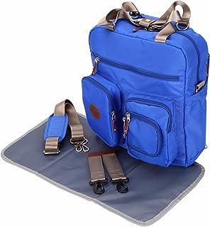 Bebek Wickeltaschen Windel sırt çantası Designer Vaeter somun Twins için çok fonksiyonlu-büyük Mavi