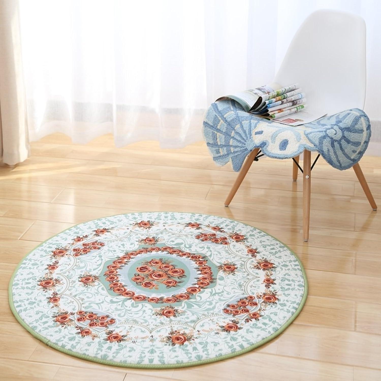 European-Style Floor mats Circular Carpet Modern Living Room Floor mats Room,Bedroom,Computer Chair Cushion Slip Sheet Hanging Basket Blanket-A diameter140cm(55inch)