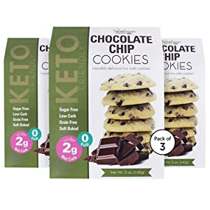 Too Good Gourmet Keto Cookies, Soft-Baked Healthy Snacks, Sugar and Grain-Free Low Carb Keto Snacks, Healthy Sweets with Less Than 2g Net Carbs (5oz Box, Chocolate Chip)