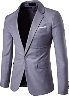 Men's Suit Jacket One Button Slim Fit Sport Coat Business Daily Blazer