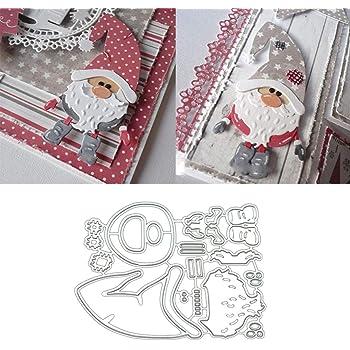Christmas Santa Claus Cutting Dies Embossing Carbon Steel DIY Scrapbook Craft