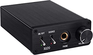192kHz DAC Converter with Headphone Amplifier Digital to Analog Audio Converter Coaxial SPDIF Toslink to Analog Stereo L/R RCA 6.35mm Jack Audio Adapter Support PCM/LPCM 2.0CH