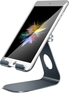 Soporte Tablet, Lamicall Multiángulo Soporte Tablet : Soporte Base Ajustable para Tablets para Pad 2018 Pro 10.5 / 9.7 / 12.9, Pad mini 2 3 4, Pad Air, Air 2, Samsung Tab, Otras Tablets - Gris