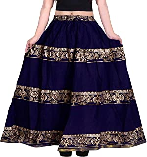 jwf Women's Cotton Skirt (Multicolor)
